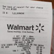 walmart receipt for walmart survey