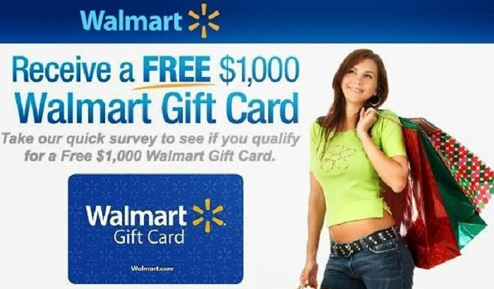 Walmart Survey - Win a 1000$ Walmart Gift Card
